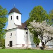 Church in ruda village bohemia and moravia highlands czech republic — Stock Photo