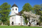 Church in ruda village bohemia and moravia highlands czech republic — Stock Photo