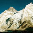 Evening view of Everest and Nuptse from Kala Patthar — Stock Photo #9632194