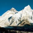 Evening view of Everest and Nuptse from Kala Patthar — Stock Photo #9632199