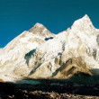 Evening view of Everest and Nuptse from Kala Patthar — Stock Photo
