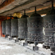 Stock Photo: Many prayer wheels