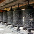 Many prayer wheels - Stock Photo
