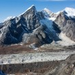 Khumbu glacier and lobuche peak from Kongma la pass - nepal — Stock Photo