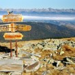 Guidepost in Tatra national park - Stock Photo