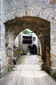 Entrance to gothic castle - kost castle - czech republic — Stock Photo