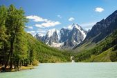 Savlo or szavlo valley in altai range - mountains russia — Stock Photo