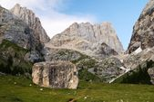 View of southern side of marmolada- top of dolomiti italy — Stock Photo