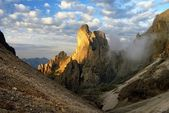 Morning view of cima della madonna in pale di san martino - dolomiti italy — Stock Photo