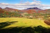 Autumnal view from Strazovske Vrchy — Stock Photo