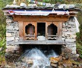 Water prayer wheel — Stock Photo