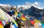 View of everest from gokyo ri — Stock Photo