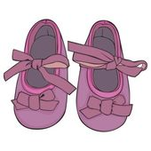 Illustration of a pair of baby shoes — Stock Vector