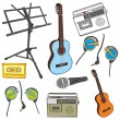 Music items — Stock Vector