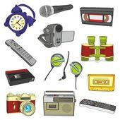 Entertainment items — Stock Vector