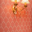 Stock Photo: Two lamps on pink seamless floral pattern