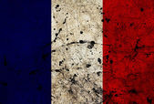 France dirty old grunge flag — Stock Photo