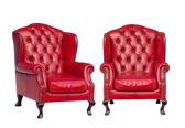 Luxusní vintage červené křeslo — Stock fotografie