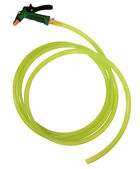 Green plastic sprayer for gardening — Stock Photo