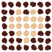 Dark and white almond chocolate — Stock Photo