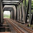 Steel Railway bridge — Stock Photo #9176765