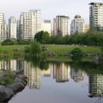 Зеленый город — Стоковое фото