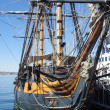 Tall ship at harbor — Stock Photo #8627934