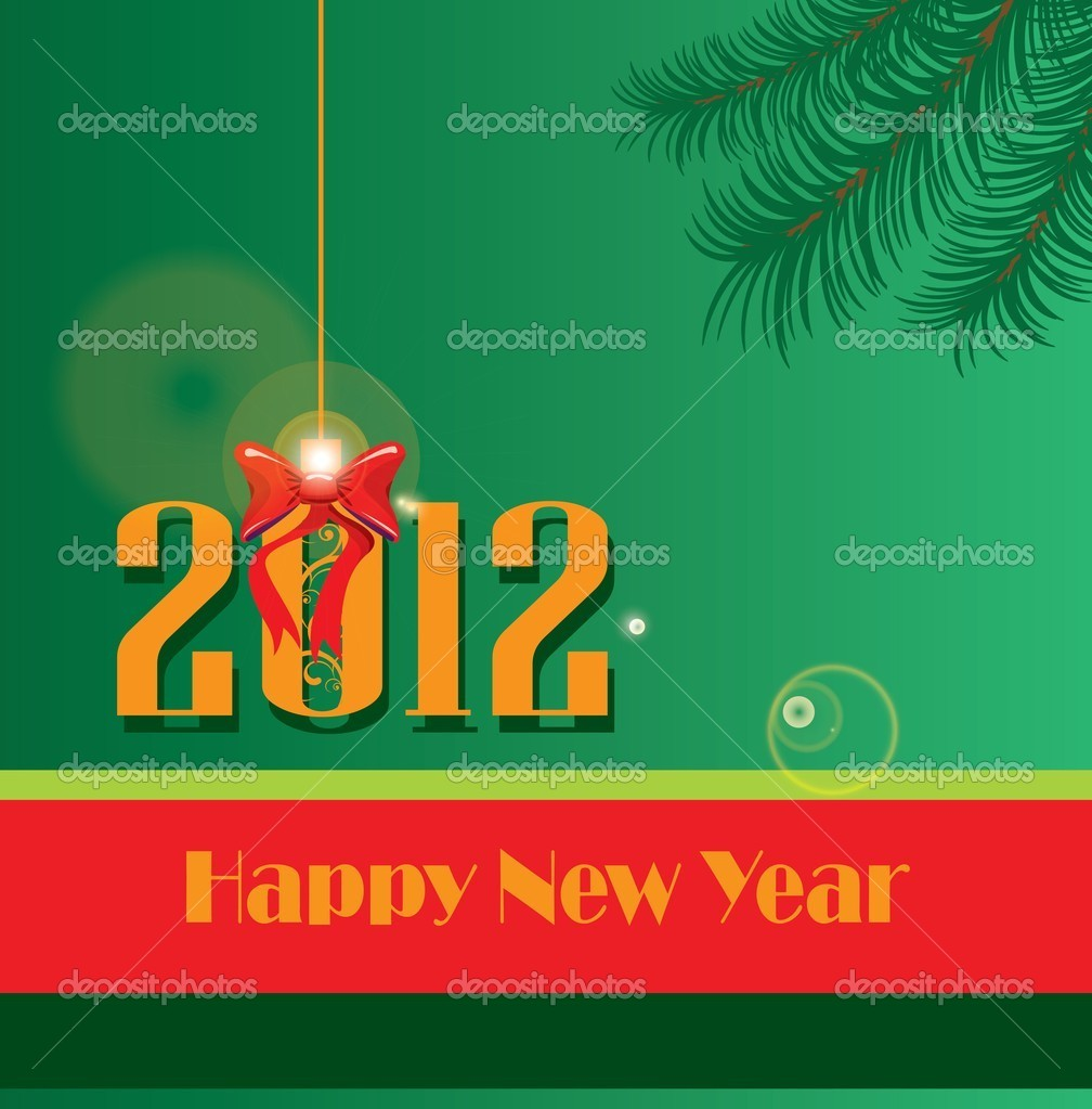 New year postacard — Stock Photo #7971611