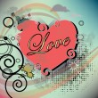 Illustration heart with an inscription love — Stock Photo