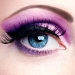 Purple eye make-up — Stock Photo