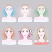 Women make up — Stock Vector