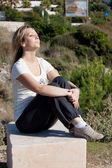 Woman relax at the sun — Stock Photo