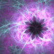 Glow abstract fractal background with black hole — Stock Photo