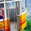 Cable car in mountains — Stock Photo