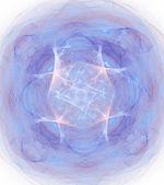 énorme cyan fractal abstraite sur fond blanc — Photo