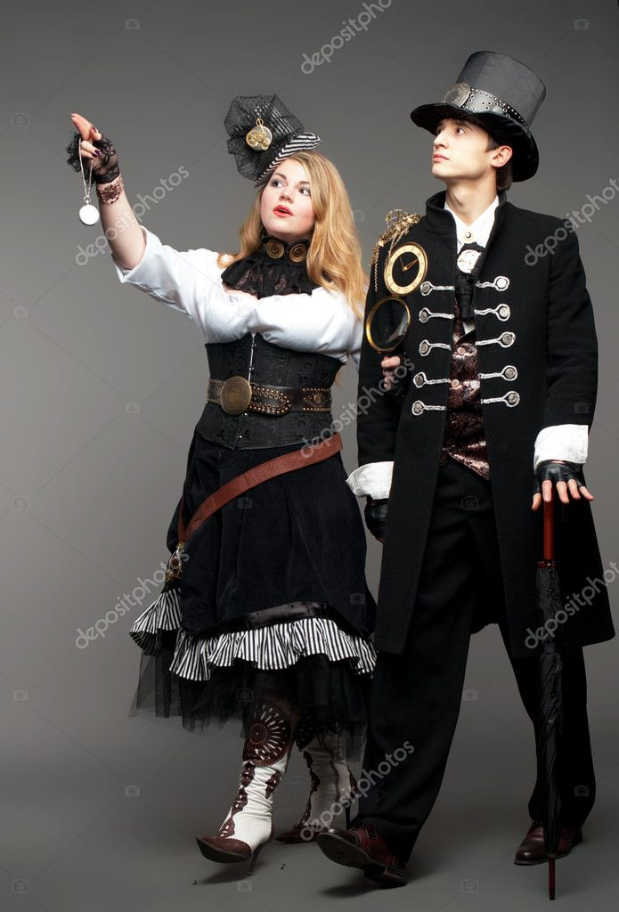 Vintage steam-punk stylised couple  Stock Photo #10241324