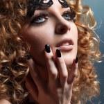 Studio glamour portrait — Stock Photo