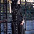 Стоковое фото: Portrait of beautiful gothic girl