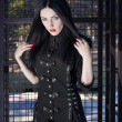 Stock Photo: Portrait of a beautiful gothic girl
