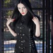 Portrait of a beautiful gothic girl — Foto de Stock