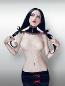 Míč kloubová panenka s culíky — Stock fotografie