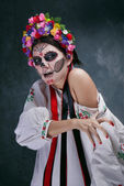 Day of the Dead in Ukrainian style — Стоковое фото