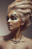 Studio beauty portrait — Stock Photo