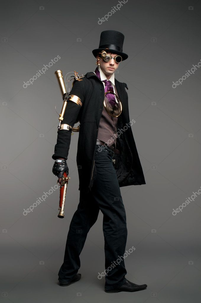 Steam-punk stylised caharacter — Stock Photo #10339982