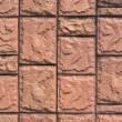 Decorative light brown tile wall texture — Stockfoto
