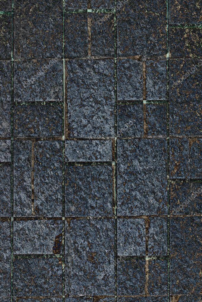 Sfondo texture muro di piastrelle grigio scuro foto - Piastrelle grigio scuro ...