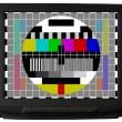Stock Photo: TV with test signal