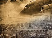 Retro aviation — Stock Photo