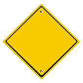Blank caution sign — Stock Photo