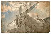Vintage military postcard — Stock Photo